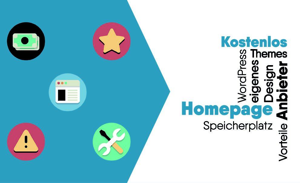 Homepage kostenlos erstellen mit Anbieter ohne Werbung.