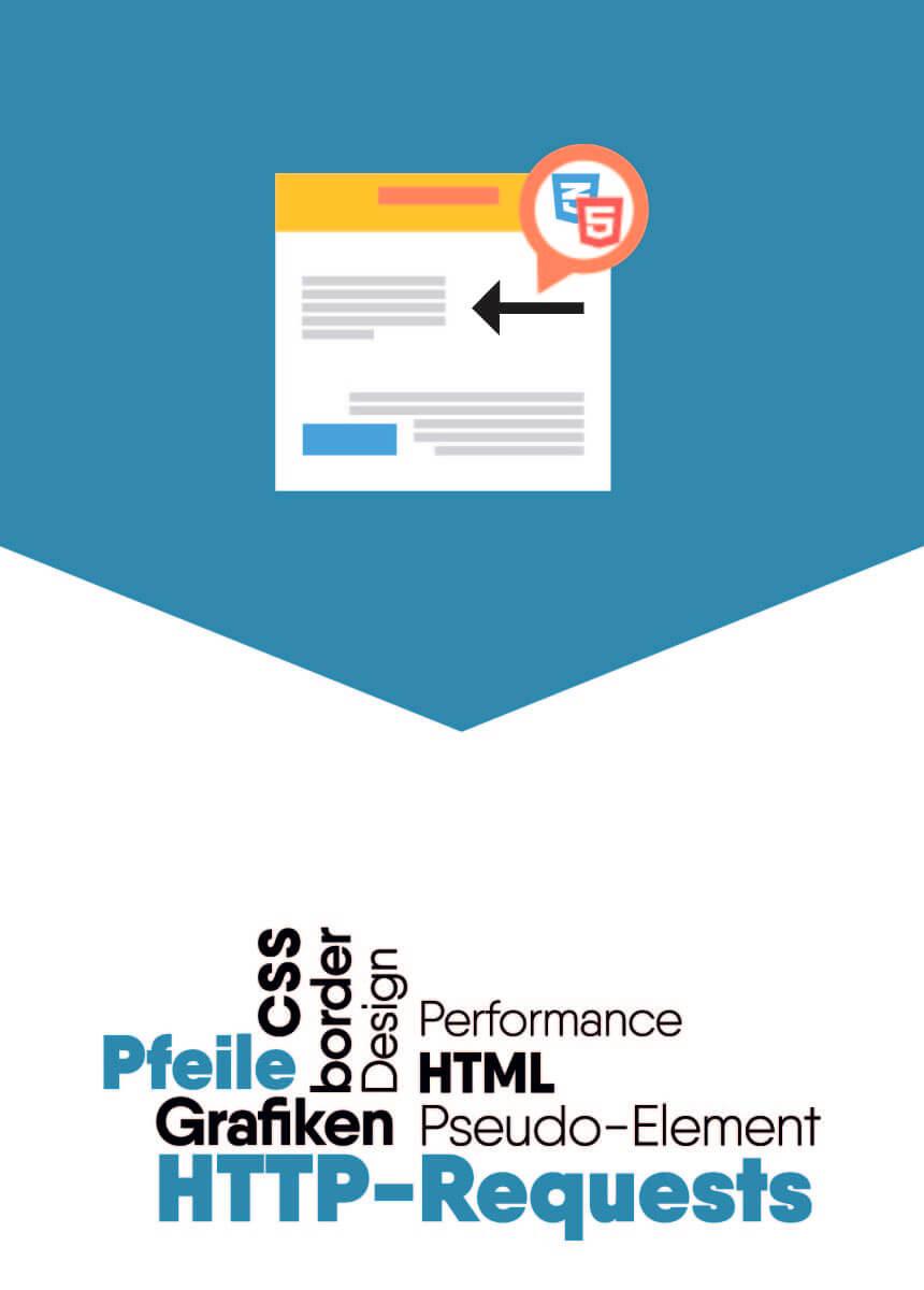 HTTP-Requests sparen mit Triangle / Pfeile ohne Grafiken mit CSS
