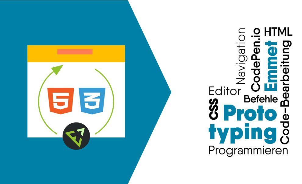 Alles zu HTML und CSS-Prototyping in CodePen io mit Emmet