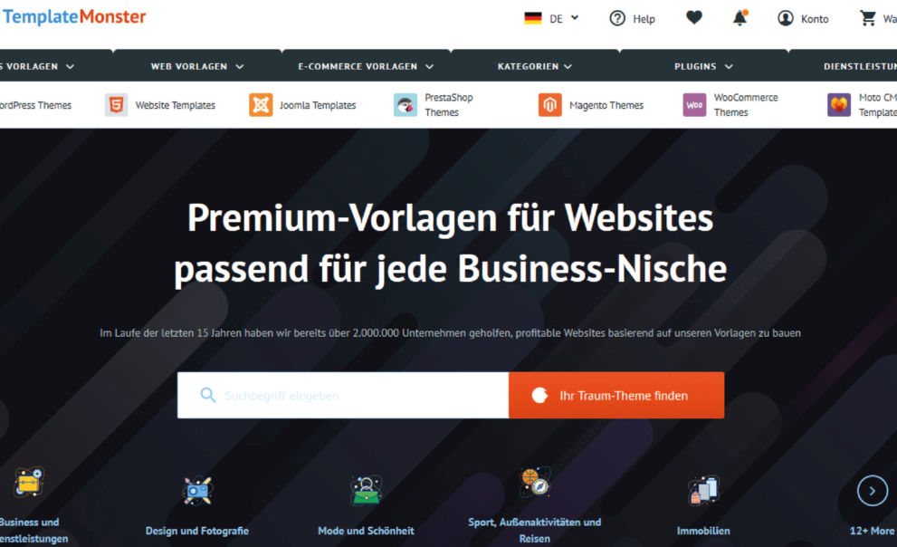 WordPress Themes von TemplateMonster