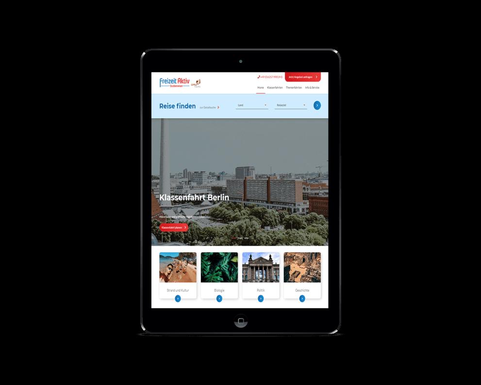 Wir haben die neue Wordpress Seite von Freizeit Aktiv erstellt.