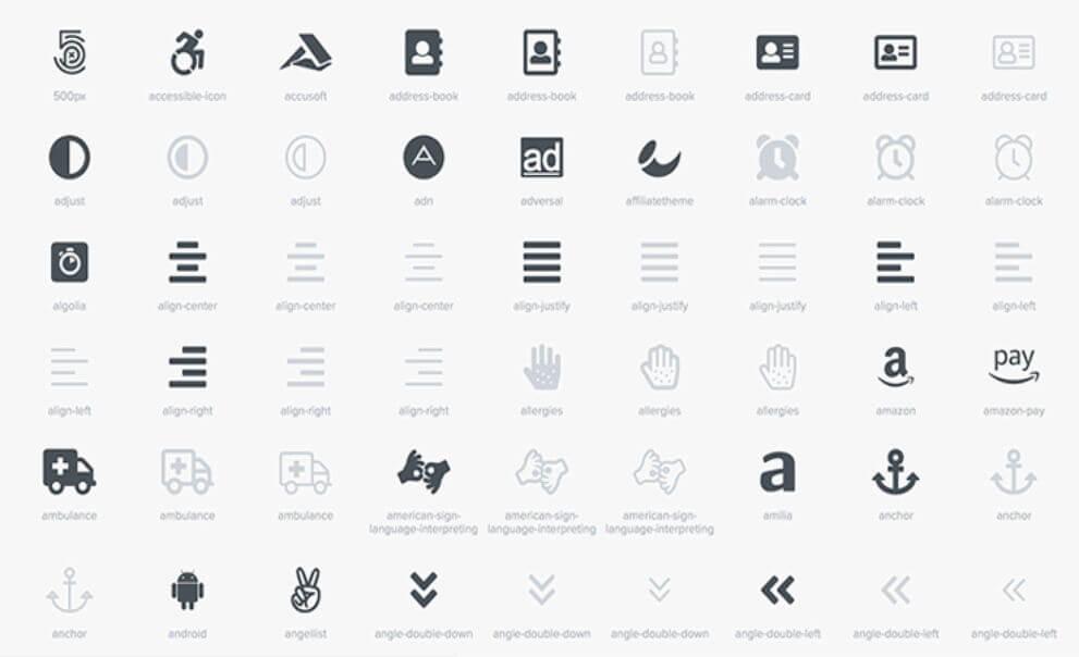 Über 2481 Wordpress Icons nutzen - Fontawesome - Bsp. divi theme