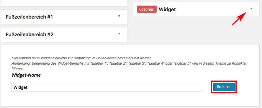 Widget hinzufügen WordPress