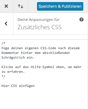 Add additional CSS with Divi