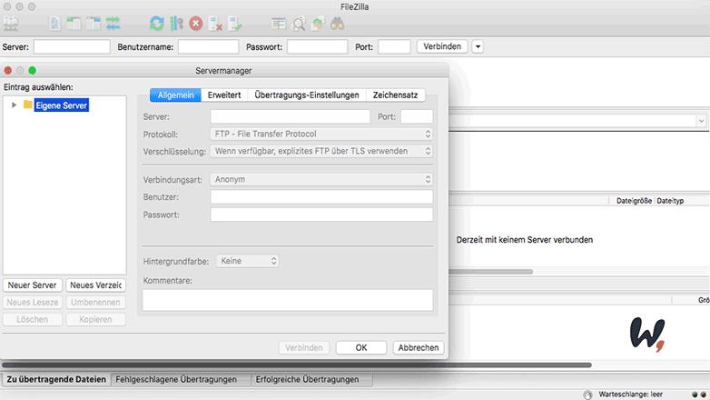 Filezilla FTP Client nutzen mit Wordpress und Strato