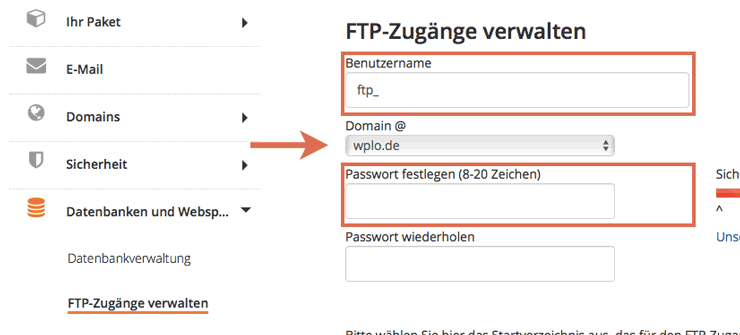 FTP Server Strato einrichten