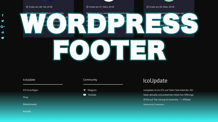 Wordpress Footer Farbe ändern mit css