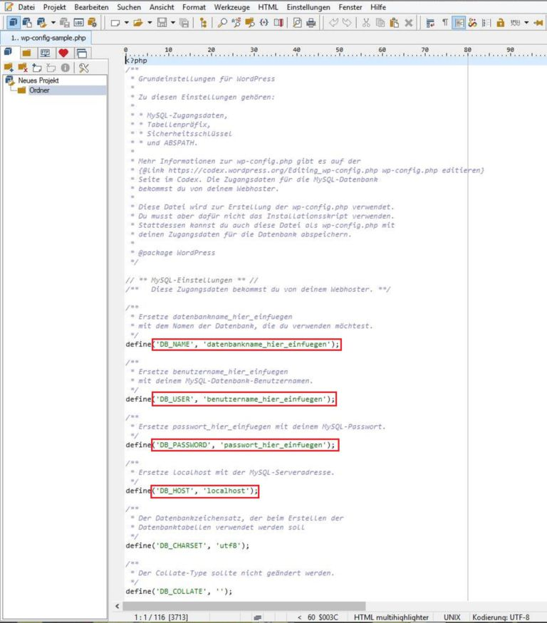 Wordpress Installation ohne Agentur